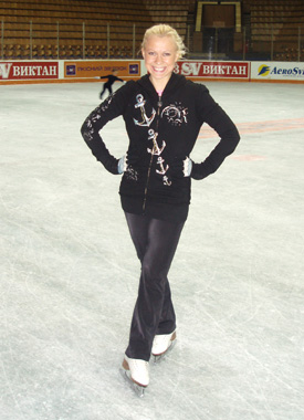 12.18.06 Oksana prepares for her Winter Holiday performance in Kiev, Ukraine.