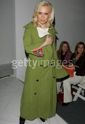 2.2.07 Oksana Baiul attends the Marc Bouwer Fall 2007 fashion show