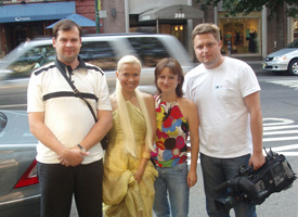 8.25.06 Ukranian TV Channel STB filming